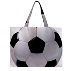 Soccer Ball Medium Zipper Tote Bag