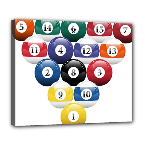 Racked Billiard Pool Balls Deluxe Canvas 24  X 20   by BangZart