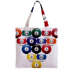 Racked Billiard Pool Balls Grocery Tote Bag