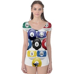 Racked Billiard Pool Balls Boyleg Leotard