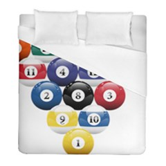 Racked Billiard Pool Balls Duvet Cover (full/ Double Size) by BangZart
