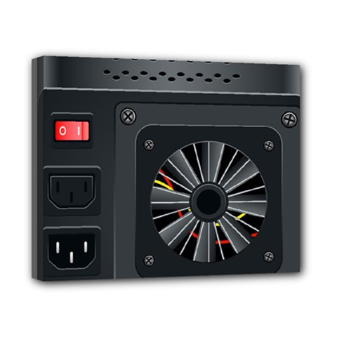 Special Black Power Supply Computer Canvas 10  X 8  by BangZart