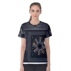 Special Black Power Supply Computer Women s Cotton Tee by BangZart