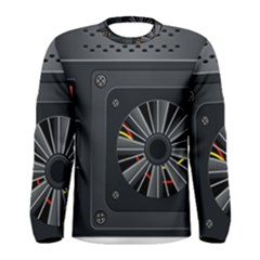 Special Black Power Supply Computer Men s Long Sleeve Tee