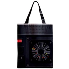 Special Black Power Supply Computer Zipper Classic Tote Bag