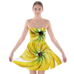 Bananas Decoration Strapless Bra Top Dress