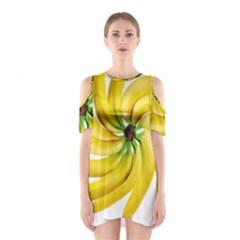 Bananas Decoration Shoulder Cutout One Piece
