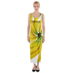 Bananas Decoration Fitted Maxi Dress
