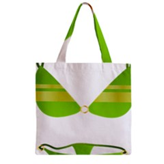 Green Swimsuit Zipper Grocery Tote Bag by BangZart