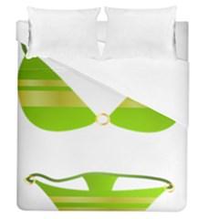 Green Swimsuit Duvet Cover (queen Size) by BangZart