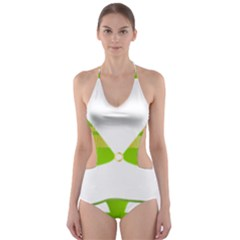 Green Swimsuit Cut Out One Piece Swimsuit