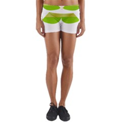 Green Swimsuit Yoga Shorts by BangZart