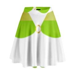 Green Swimsuit High Waist Skirt by BangZart