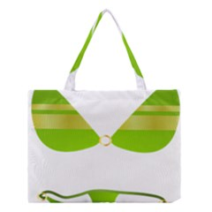 Green Swimsuit Medium Tote Bag by BangZart
