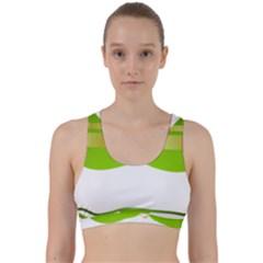 Green Swimsuit Back Weave Sports Bra