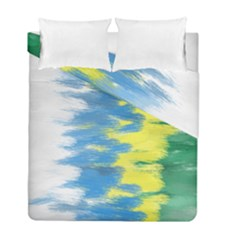 Brazil Colors Pattern Duvet Cover Double Side (full/ Double Size) by paulaoliveiradesign