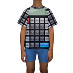 Calculator Kids  Short Sleeve Swimwear