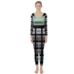 Calculator Long Sleeve Catsuit