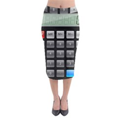 Calculator Midi Pencil Skirt