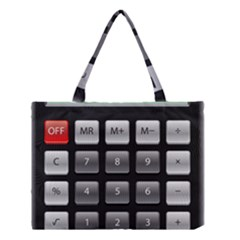 Calculator Medium Tote Bag by BangZart