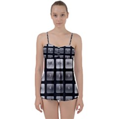 Calculator Babydoll Tankini Set