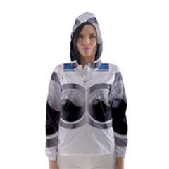 White Washing Machine Hooded Wind Breaker (women)