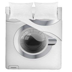 White Washing Machine Duvet Cover Double Side (queen Size) by BangZart