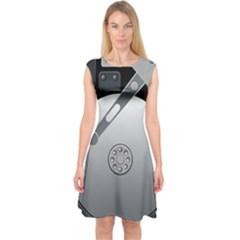 Computer Hard Disk Drive Hdd Capsleeve Midi Dress