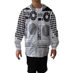 Standard Computer Case Back Hooded Wind Breaker (kids)