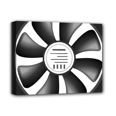 12v Computer Fan Deluxe Canvas 14  X 11