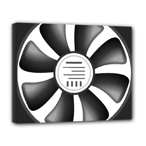 12v Computer Fan Deluxe Canvas 20  X 16