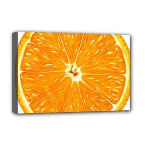 Orange Slice Deluxe Canvas 18  X 12