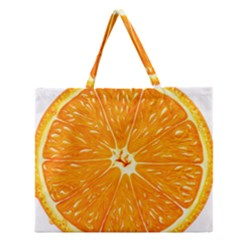 Orange Slice Zipper Large Tote Bag by BangZart
