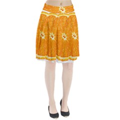Orange Slice Pleated Skirt