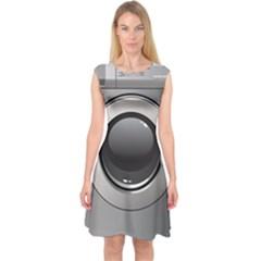 Washing Machine Capsleeve Midi Dress