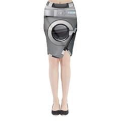 Washing Machine Midi Wrap Pencil Skirt