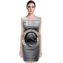 Washing Machine Sleeveless Velvet Midi Dress