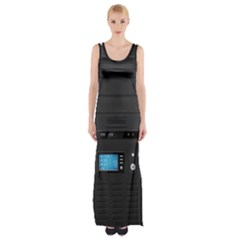 Standard Computer Case Front Maxi Thigh Split Dress