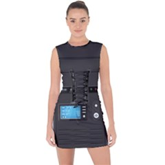 Standard Computer Case Front Lace Up Front Bodycon Dress