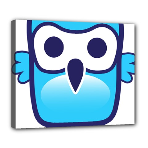 Owl Logo Clip Art Deluxe Canvas 24  X 20   by BangZart