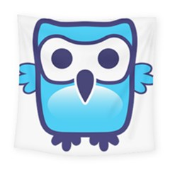 Owl Logo Clip Art Square Tapestry (large) by BangZart