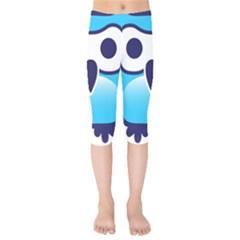 Owl Logo Clip Art Kids  Capri Leggings
