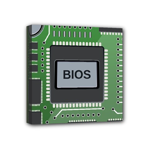 Computer Bios Board Mini Canvas 4  X 4  by BangZart