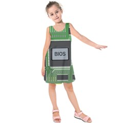 Computer Bios Board Kids  Sleeveless Dress
