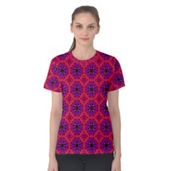 Retro Abstract Boho Unique Women s Cotton Tee