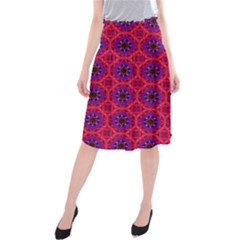 Retro Abstract Boho Unique Midi Beach Skirt