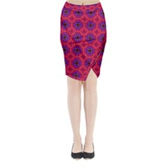 Retro Abstract Boho Unique Midi Wrap Pencil Skirt