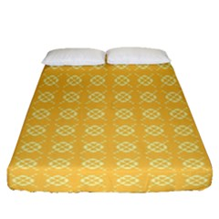 Yellow Pattern Background Texture Fitted Sheet (queen Size) by BangZart