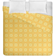 Yellow Pattern Background Texture Duvet Cover Double Side (king Size)