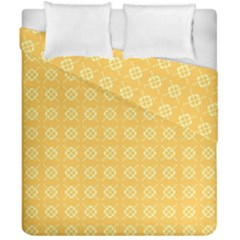 Yellow Pattern Background Texture Duvet Cover Double Side (california King Size)